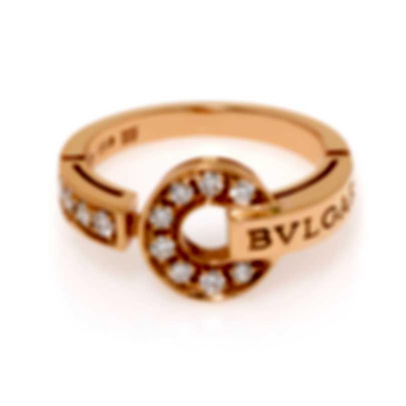 Bvlgari Bvlgari 18k Rose Gold Diamond Ring Sz 6.25 346214