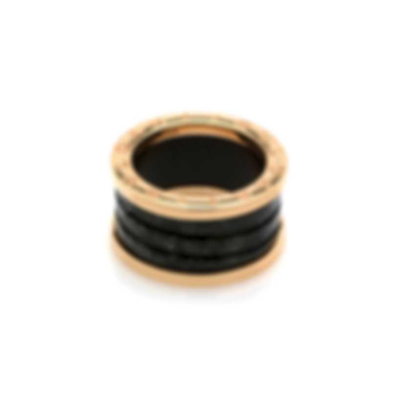 Bvlgari B Zero 18k Rose Gold And Ceramic Ring Sz 6.5 347655
