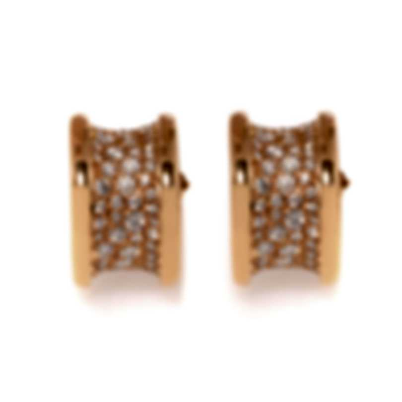 Bvlgari B.Zero1 18k Rose Gold Diamond Earrings 347814