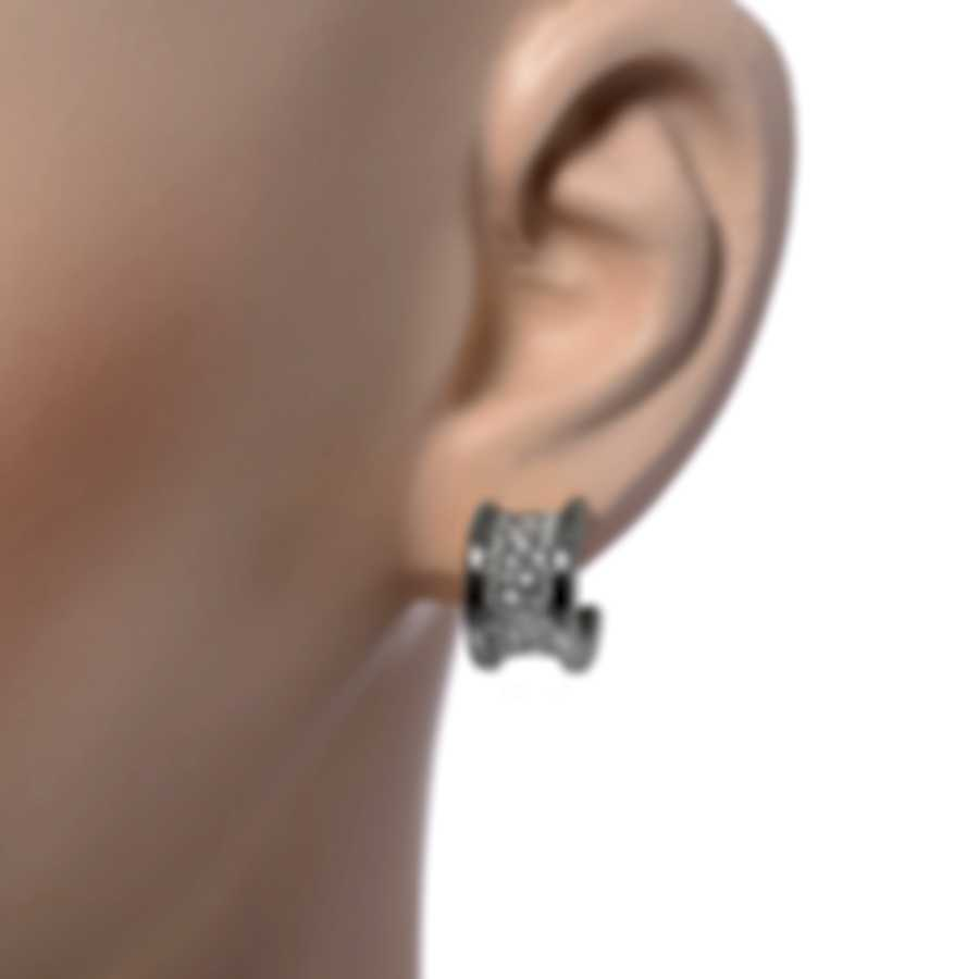 Bvlgari B.Zero1 18k White Gold Diamond Earrings 347815