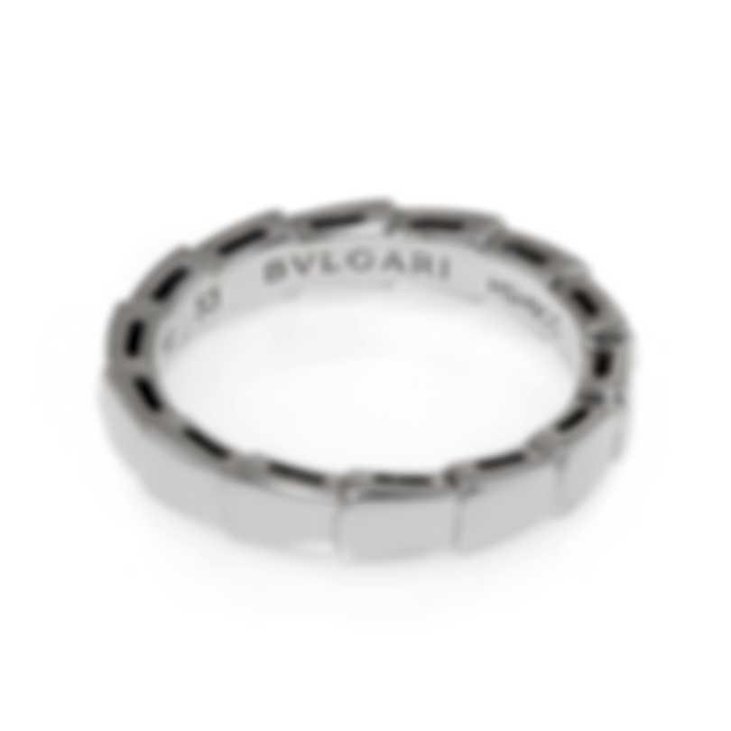 Bvlgari Serpenti 18k White Gold Ring Sz 6 349681