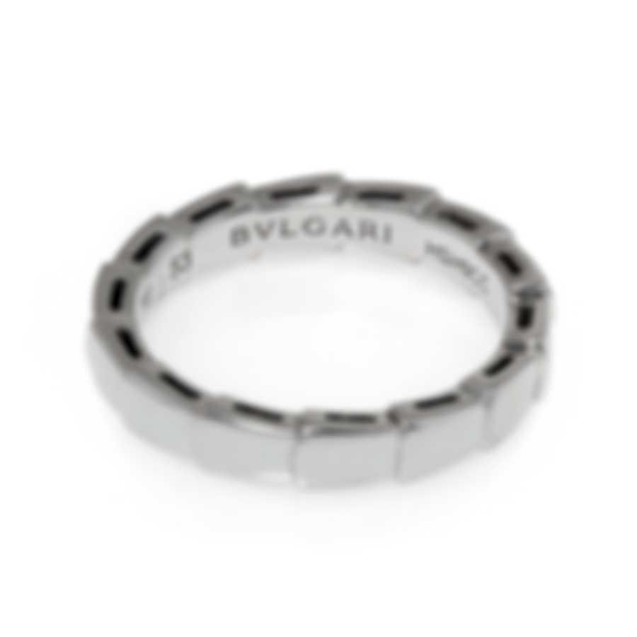 Bvlgari Serpenti 18k White Gold Ring Sz 5.5 349680