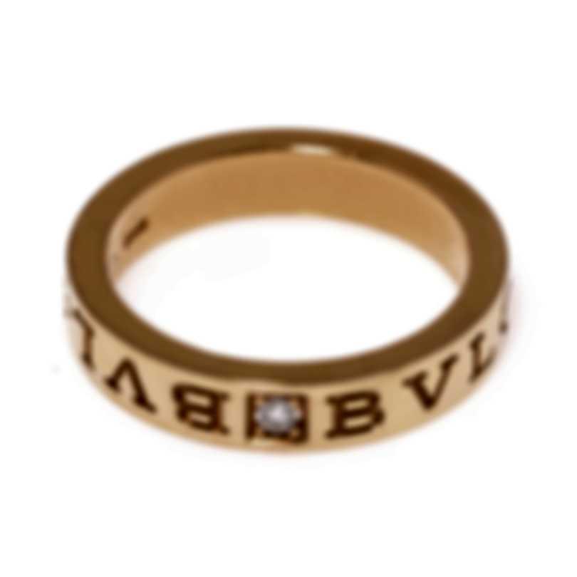 Bvlgari Bvlgari 18k Rose Gold Diamond Ring Sz 7.5 341827
