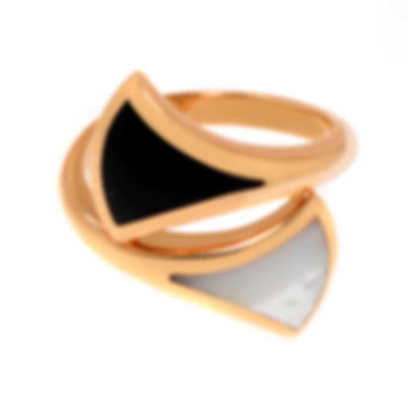 Bvlgari Diva 18k Yellow Gold And Black Onyx Ring Sz 6.25 350245