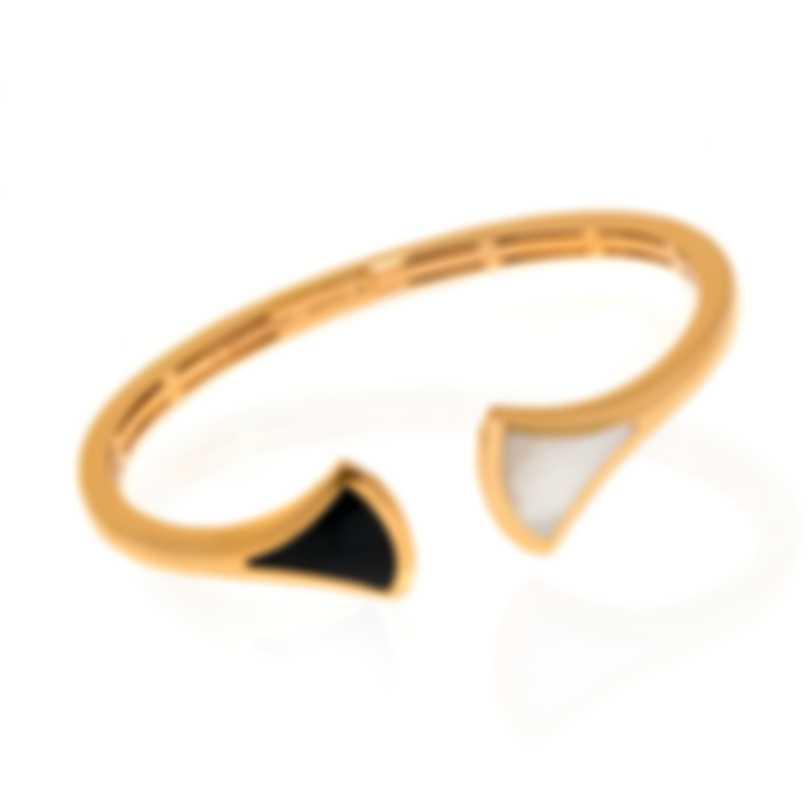 Bvlgari Diva 18k Rose Gold And Black Onyx Bracelet 350825