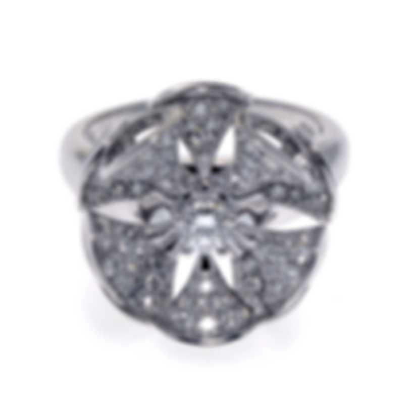 Bvlgari Diva's Dream 18k White Gold Diamond 1.10ct Ring Sz 6 3512441