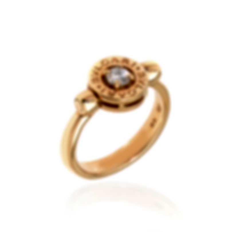 Bvlgari Bvlgari 18k Rose Gold Diamond 0.25ct Flip Ring Sz 6.5 AN853336