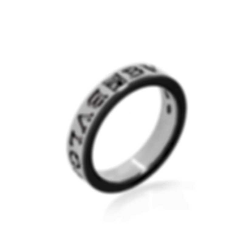 Bvlgari Bvlgari 18k White Gold Diamond 0.15ct Ring AN853348 Sz 10