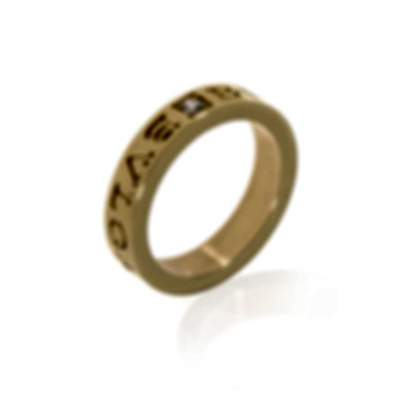 Bvlgari Bvlgari 18k Yellow Gold Diamond Ring AN854462 Size 7