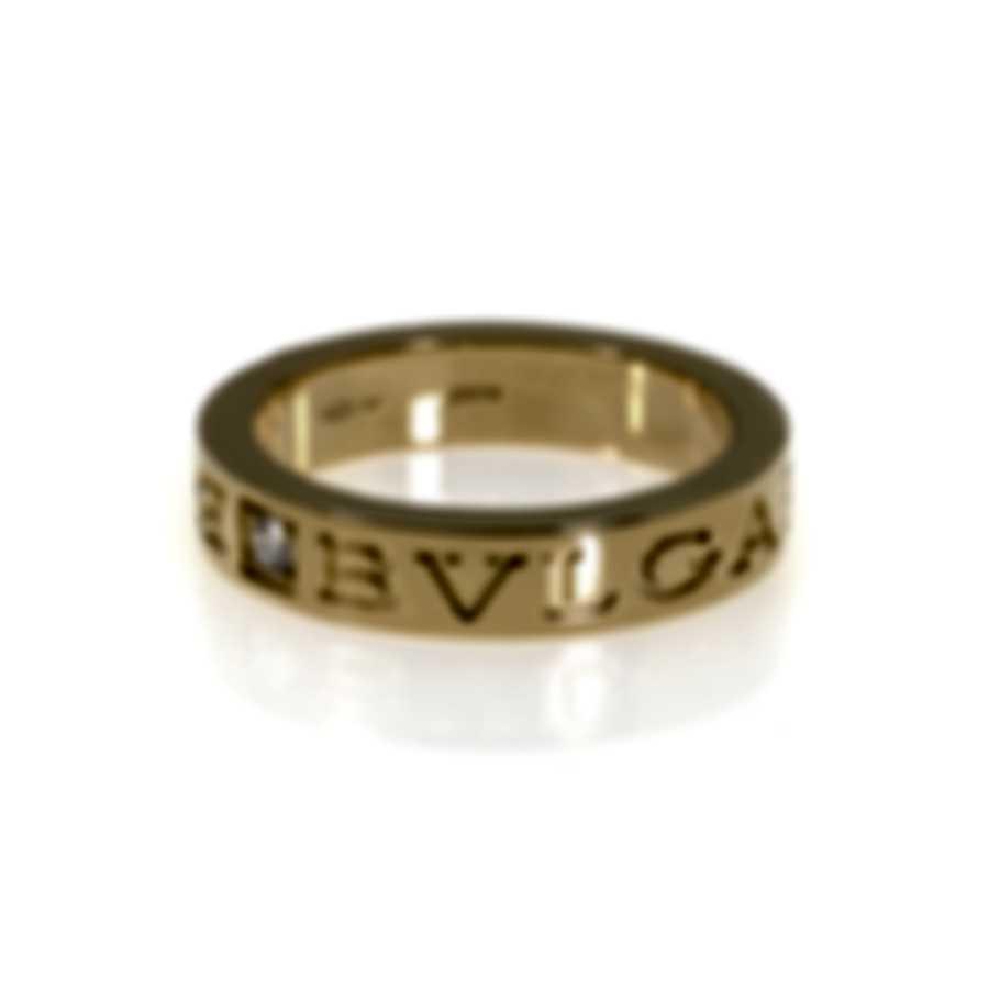 Bvlgari Bvlgari 18k Yellow Gold Diamond Ring AN854462 Size 6.5