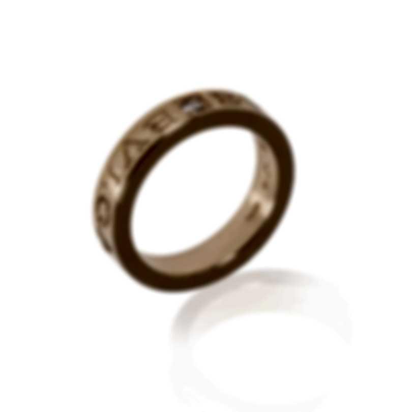 Bvlgari Bvlgari 18k Rose Gold Diamond Ring Sz 6.5 AN854185
