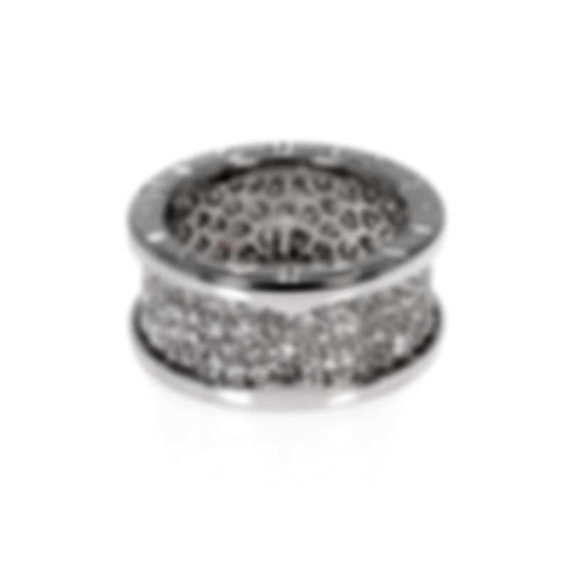 Bvlgari Bvlgari 18k White Gold Diamond(1.02ct Twd) Ring Sz 6.25 AN855552