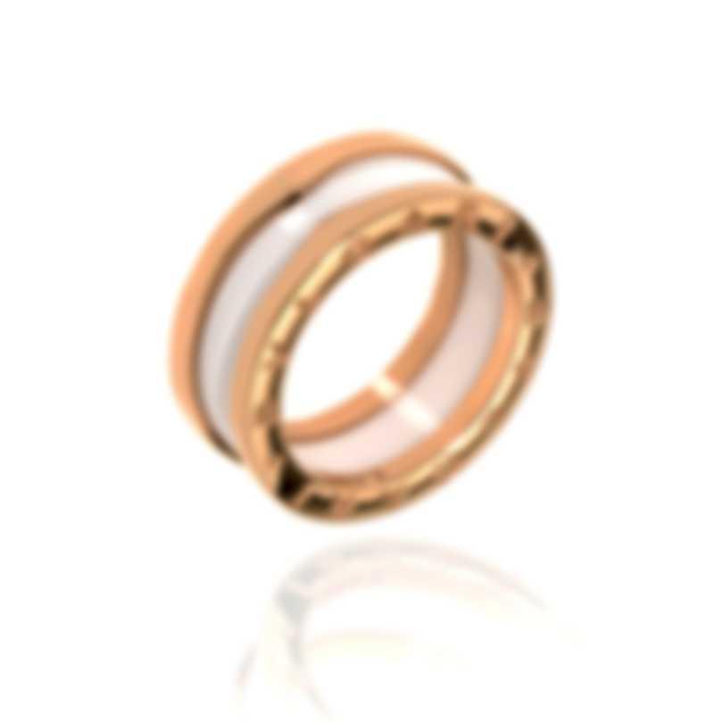 Bvlgari B Zero 18k Rose Gold And Ceramic Ring Sz 7 AN855964-54