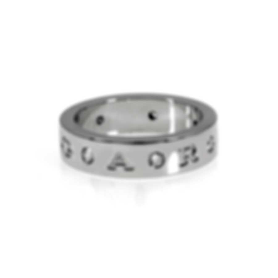 Bvlgari Bvlgari 18k White Gold Diamond Ring AN858097 Sz 6.5