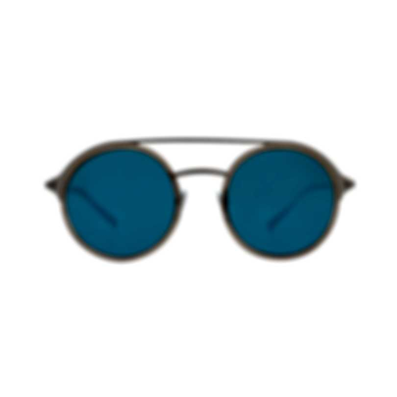 Bvlgari Gray And Blue Men's Metal Sunglasses BV5042-19555