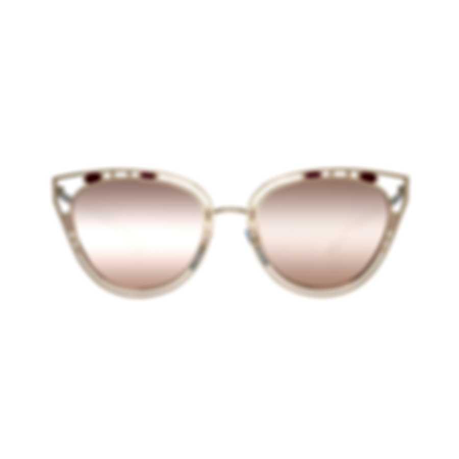 Bvlgari Gold And Pink Women's Metal Sunglasses BV6104-20144Z