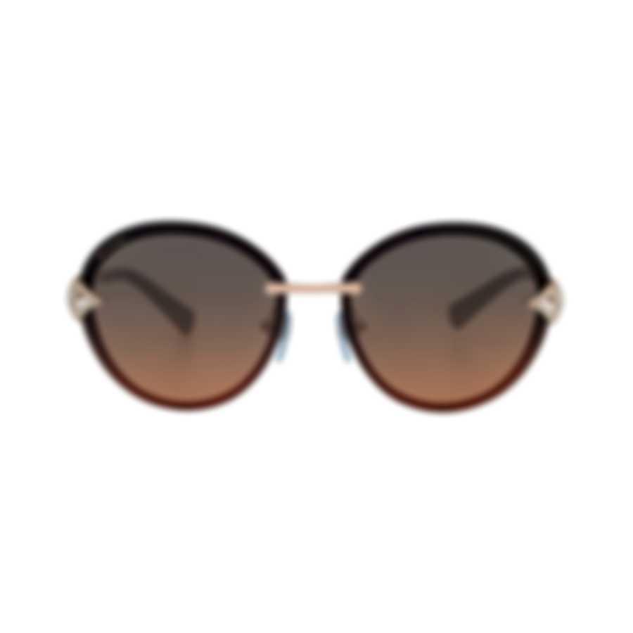 Bvlgari Orange And Gray Women's Metal Sunglasses BV6101B-201418