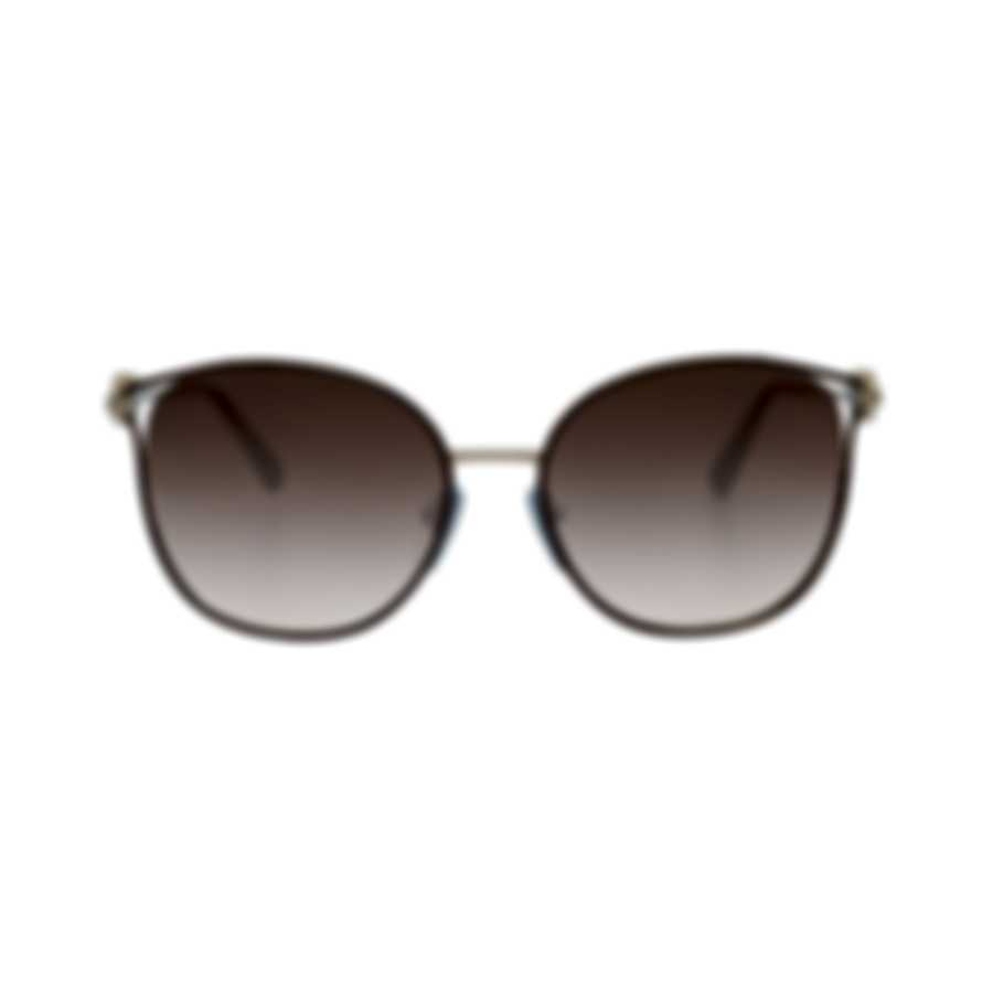 Bvlgari Brown Gradient Women's Metal Sunglasses BV6114-203613