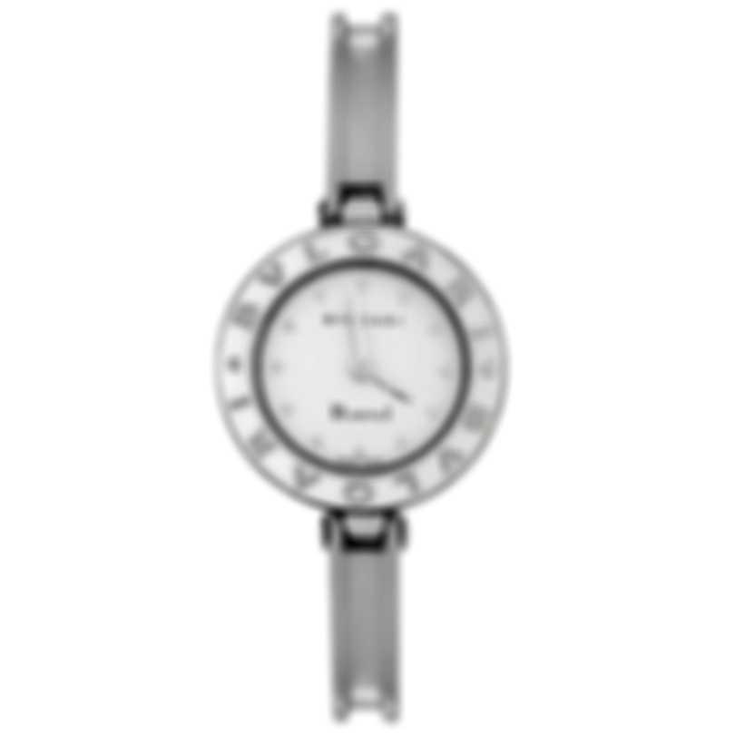Bvlgari B.Zero1 22mm White Dial Quartz Ladies Watch BZ22WLSS.M