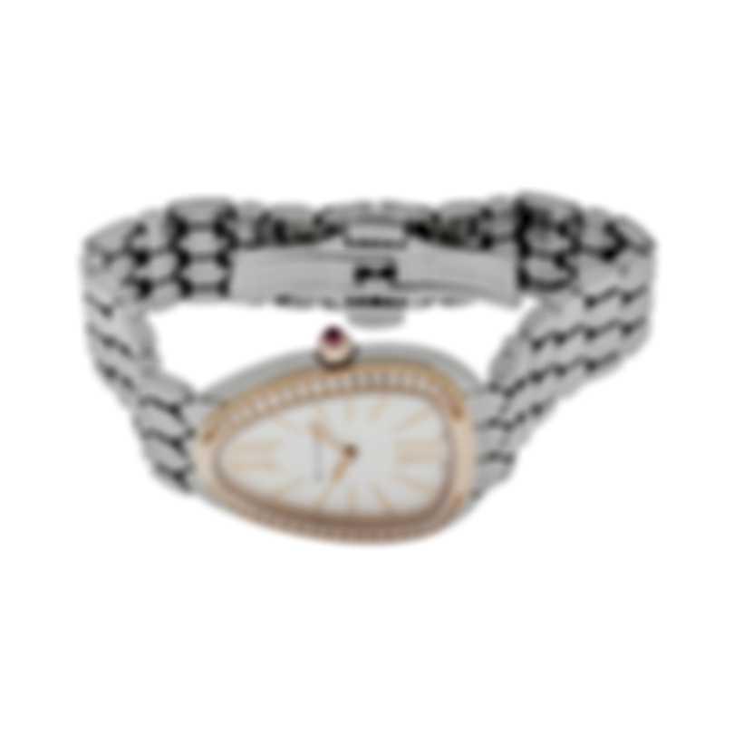 Bvlgari Serpenti Seduttori Diamond Two Tone Quartz Ladies Watch SP33WSPGD