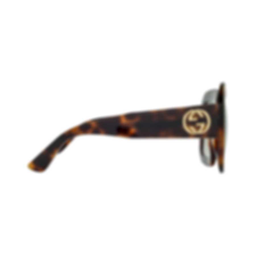 Gucci Special Edition Havana Brown Brown Women's Sunglasses GG0048S-30000993002