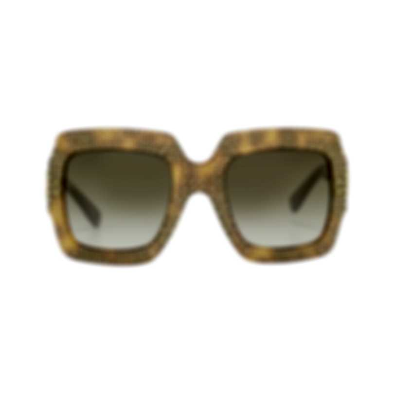 Gucci Special Edition Havana Brown Brown Women's Sunglasses GG0048S-30000993002