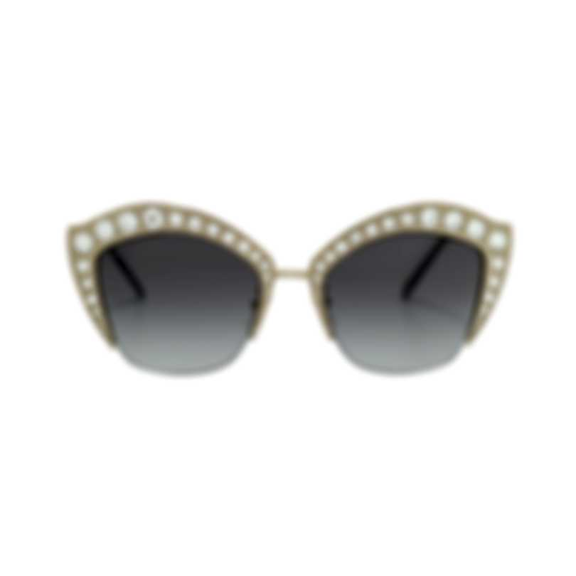 Gucci Special Edition Shiny Endura Gold/Crystal Women's Sunglasses GG0114S-30001561001