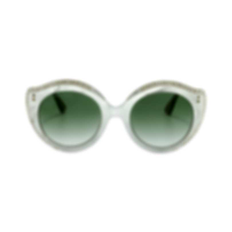 Gucci Novelty White Gold Green Women's Sunglasses GG0214S-30001823004