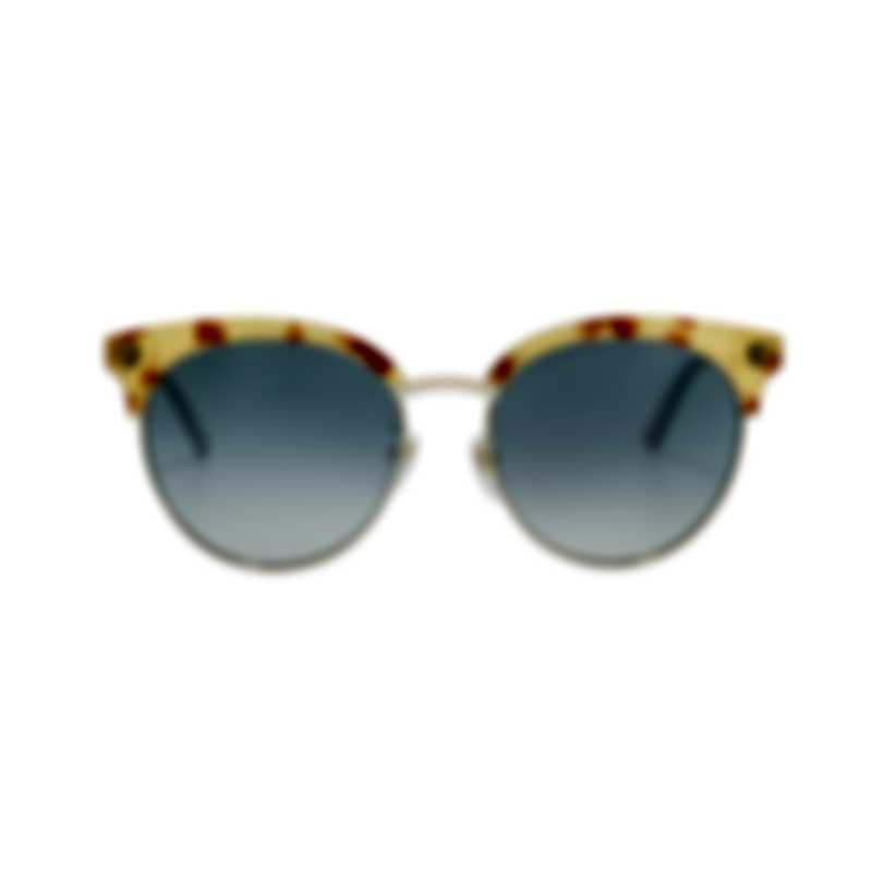 Gucci Core Havana Gold Grey Women's Sunglasses GG0222SK-30001798003