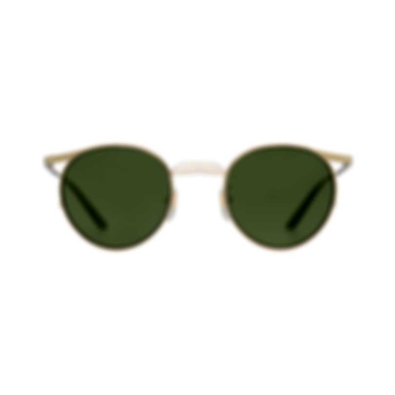 Gucci Gold And Green Metal Men's Sunglasses GG0238S-003 MSRP $535.00