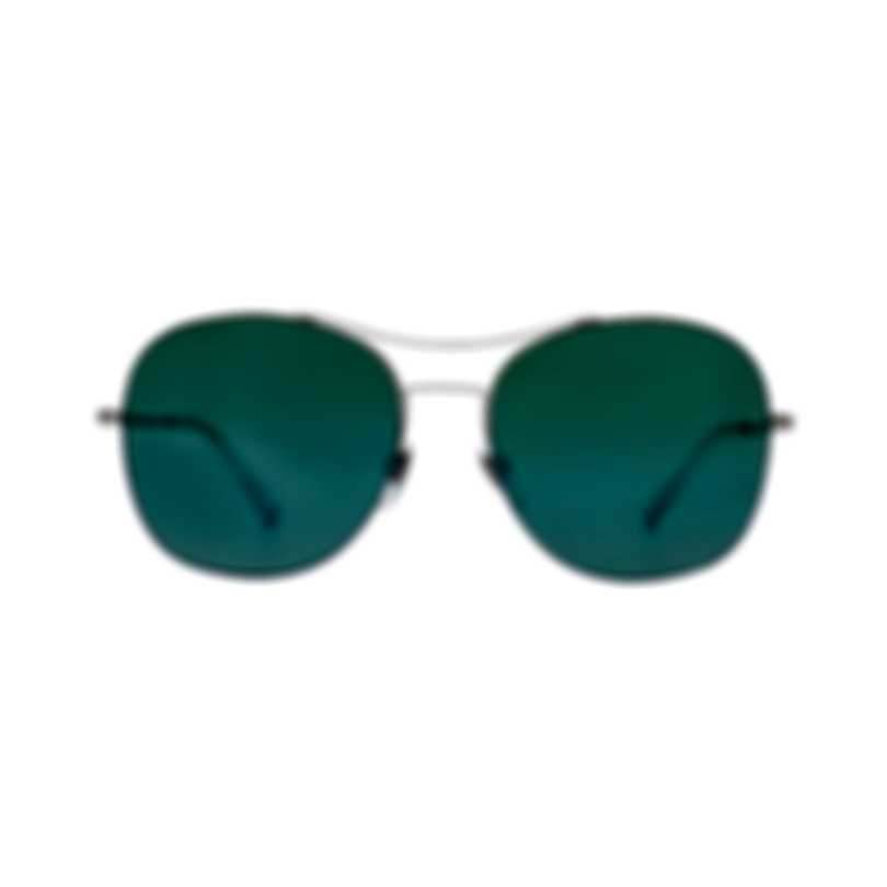Gucci Green And Silver Metal Unisex Sunglasses GG0501S-004 MSRP $390.00