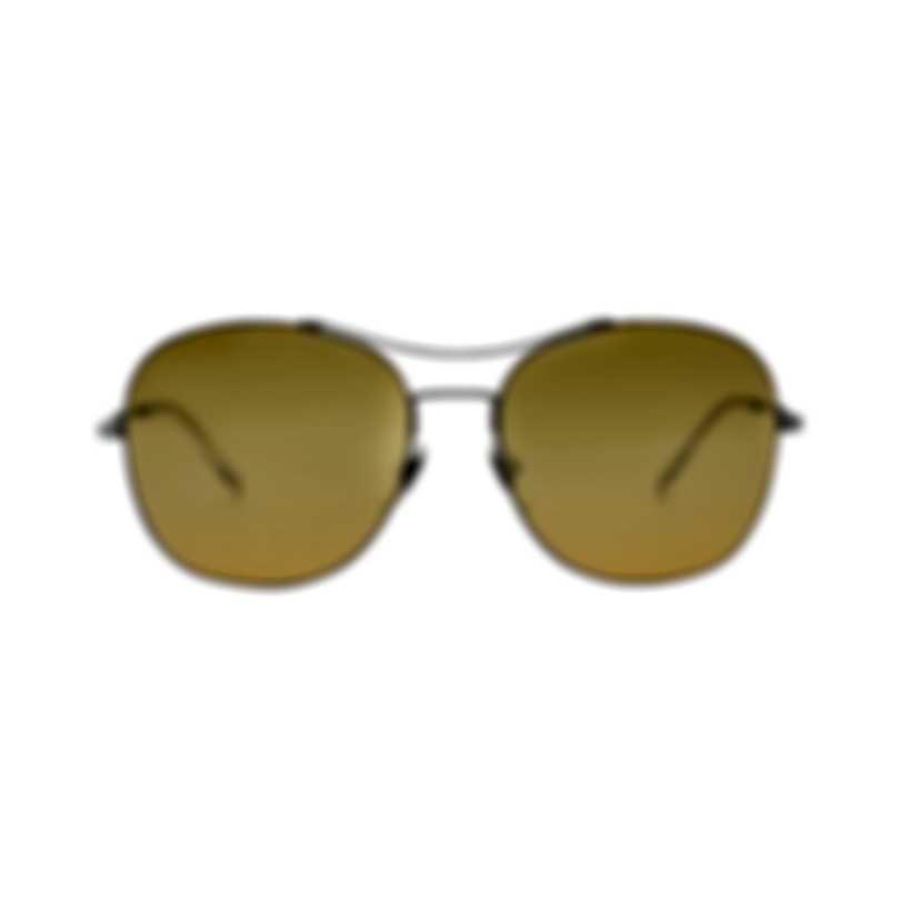 Gucci Yellow Metal Aviator Style Women's Sunglasses GG0501S-008 MSRP $390.00