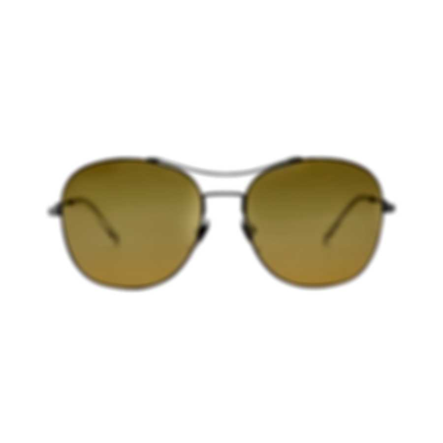 Gucci Yellow Metal Aviator Style Women's Sunglasses GG0501S-008 MSRP $390.00