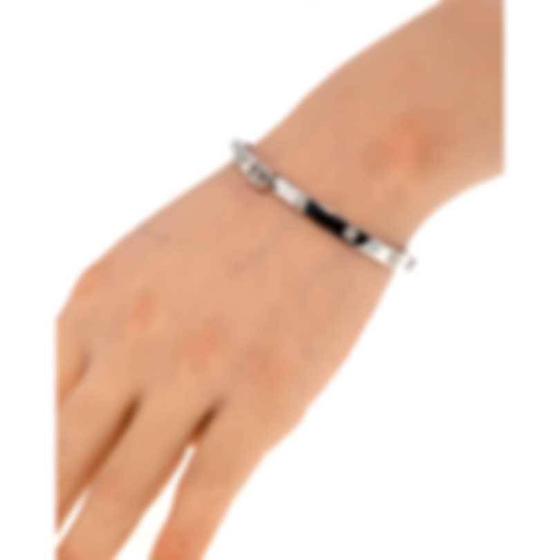 Gucci Running G 18k White Gold Diamond 0.62ct Bracelet YBA582047001017