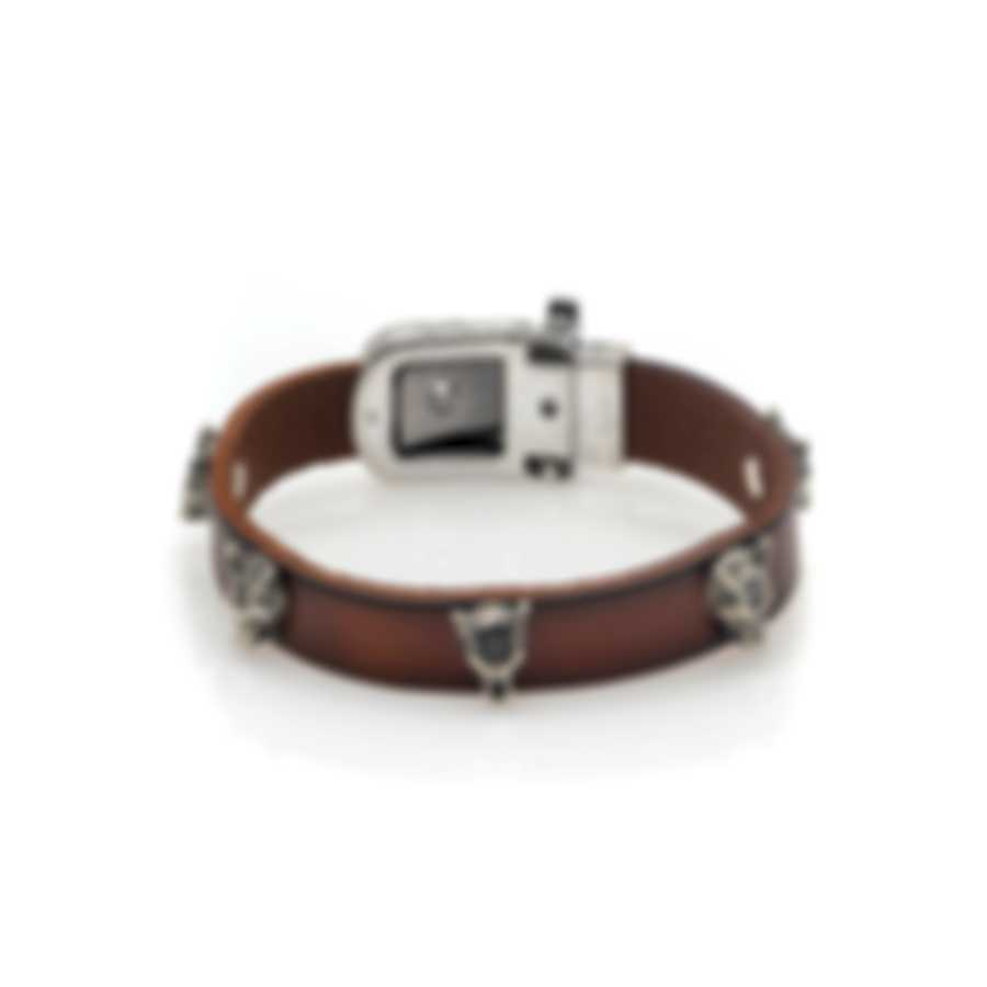 Gucci Anger Forest Sterling Silver And Leather Bracelet YBA524907001017