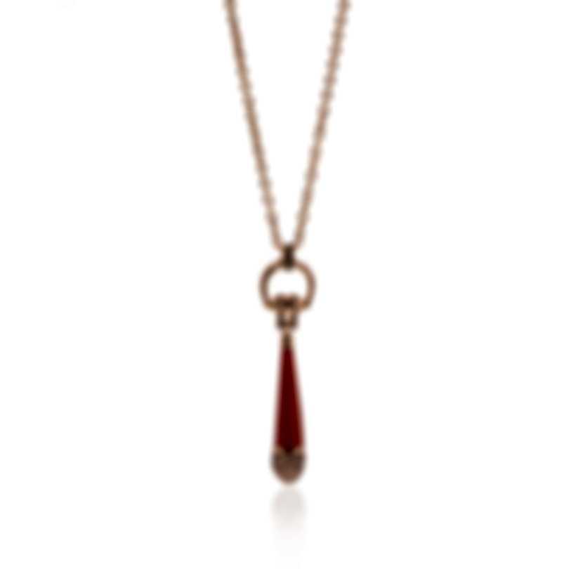 Gucci Horsebit 18k Rose Gold And Sapphire Necklace YBB27290500400U