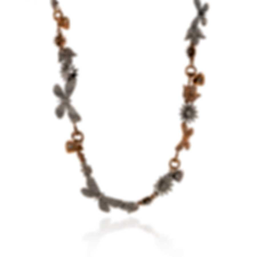 Gucci Flora 18k Rose & White Gold Enamel Diamond 5.072ct Necklace YBB389117001