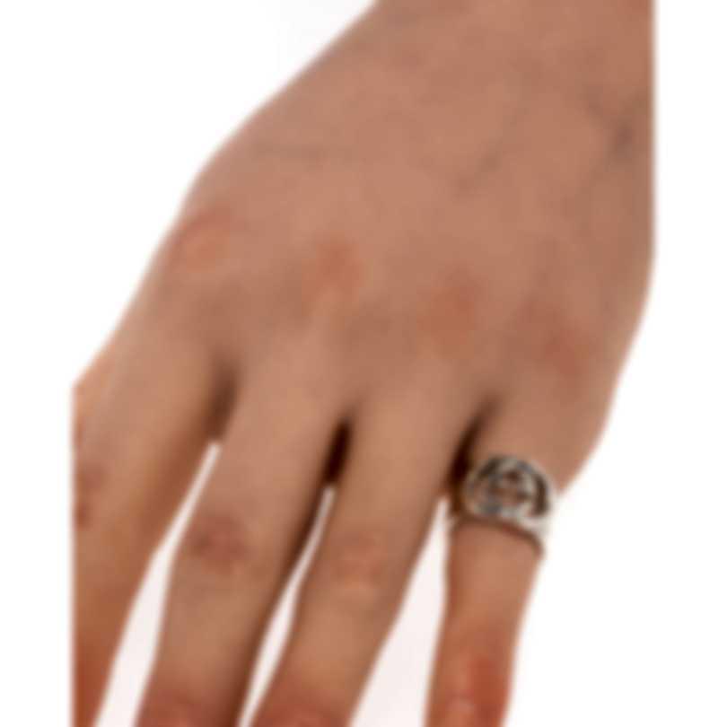 Gucci Silver Britt Sterling Silver Ring Sz 4 YBC190482001007