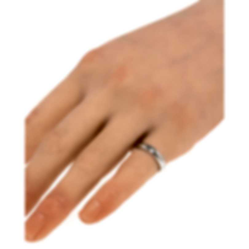 Gucci Diamantissima 18k White Gold Ring Sz 4 YBC272760001007