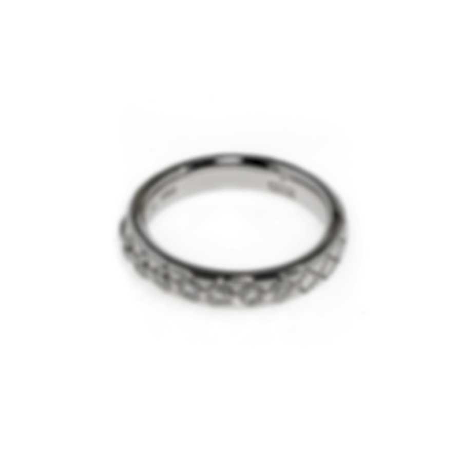 Gucci Diamantissima 18k White Gold Diamond 0.31ct Ring Sz 4.5 YBC272868001008