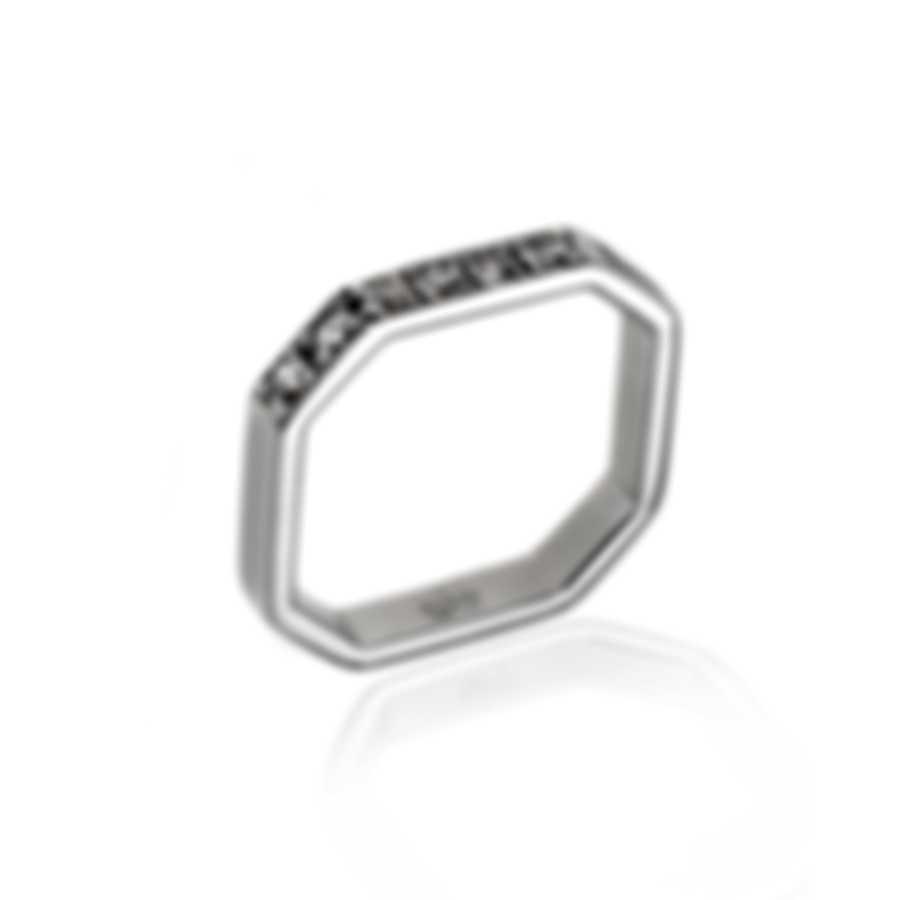 Gucci Bridal 18k White Gold Diamond Ring Sz 3.75 YBC213937002006