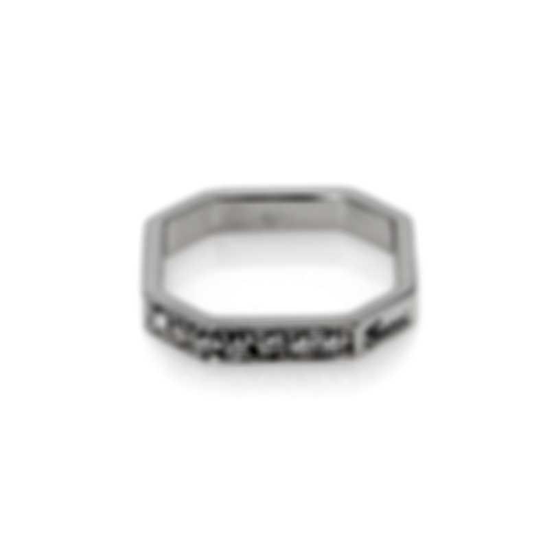 Gucci Bridal 18k White Gold Diamond Ring Sz 4.5 YBC213937002008
