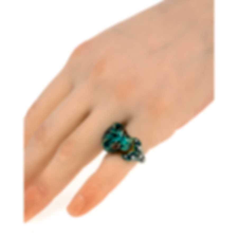 Gucci Le Marche Des Merveilles 18k Yellow Gold Diamond Ring Sz 4 YBC462053003007