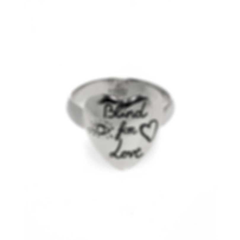 Gucci Blind For Love Sterling Silver Ring Sz 4.25 YBC499937001008