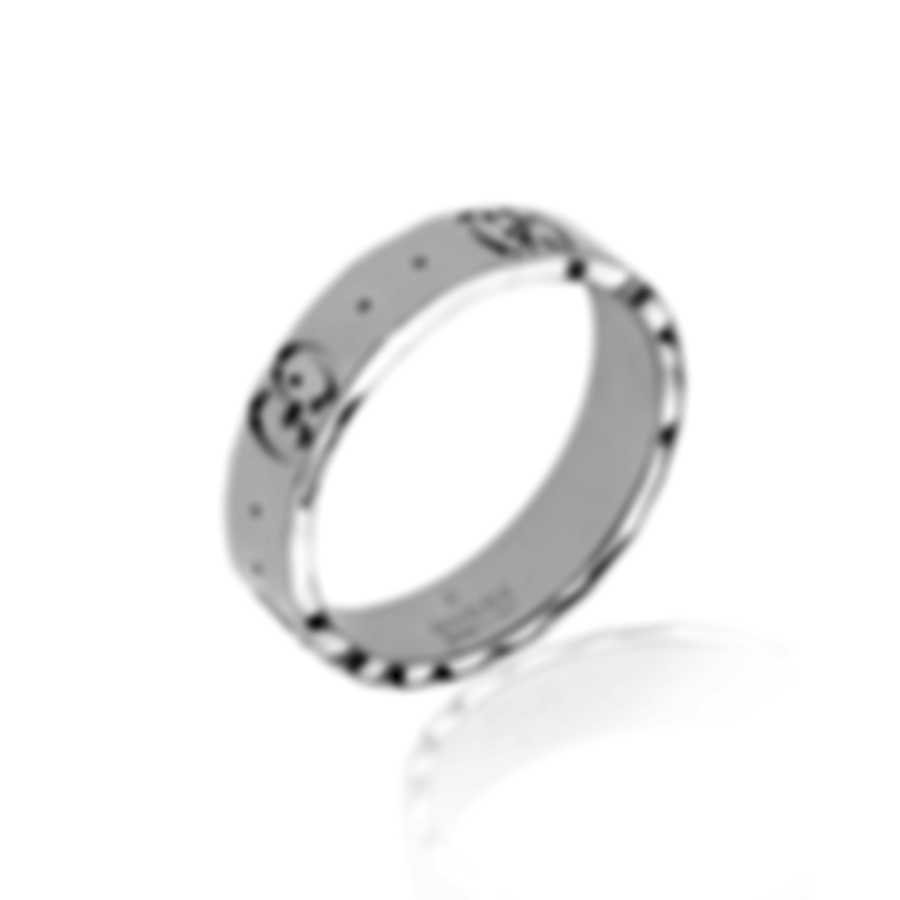 Gucci Icon 18k White Gold Ring Sz 4 YBC414006003007