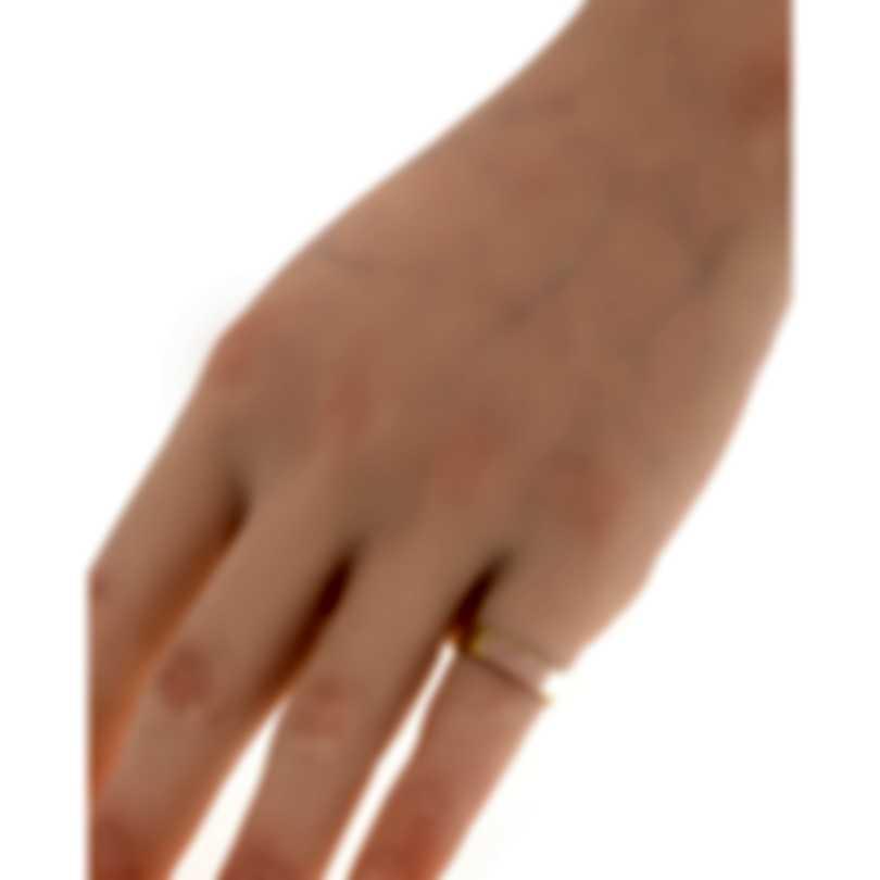 Gucci Icon 18k Yellow Gold And Enamel Ring Sz 4.5 YBC434541001008
