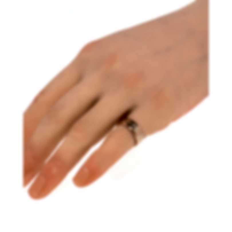 Gucci Icon 18k Rose Gold And Enamel Ring Sz 3.75 YBC434525002006