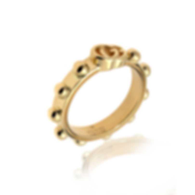 Gucci Running GG 18k Yellow Gold Ring Sz 4.5 YBC554643001008