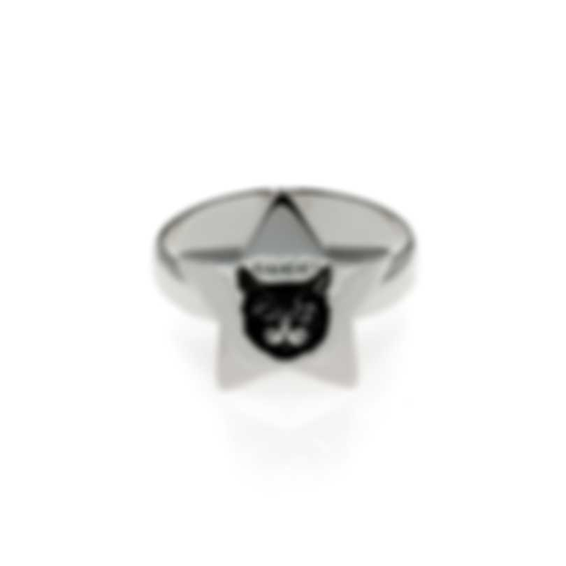 Gucci Blind For Love Sterling Silver Ring Sz 4.5 YBC502167001008