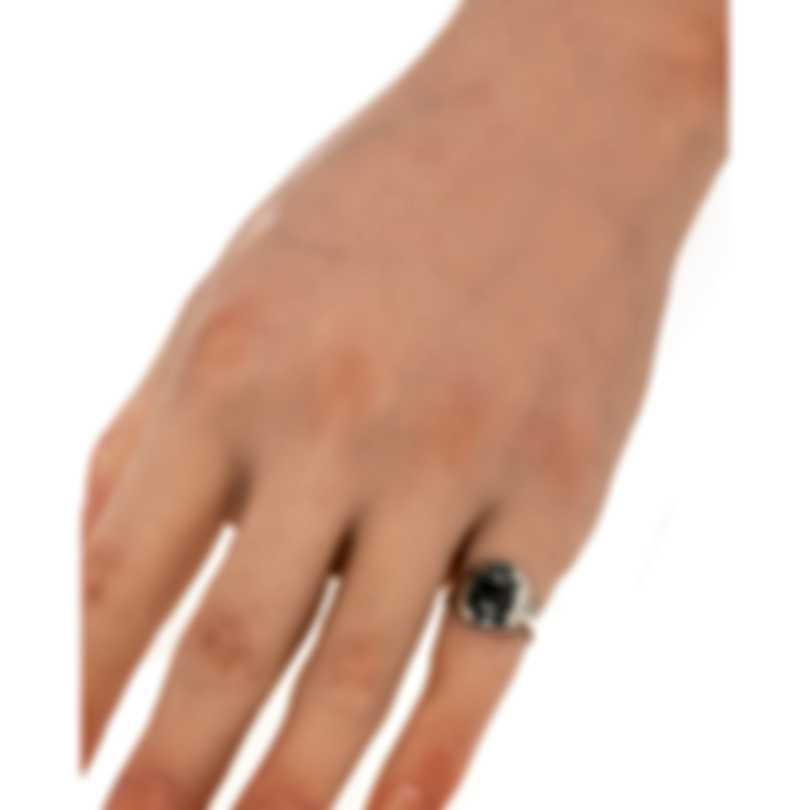 Gucci Blind For Love Sterling Silver Ring Sz 4.5 YBC502135001008
